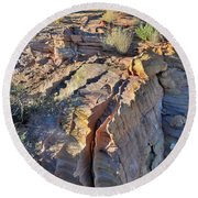 Colorful Wave Of Sandstone In Valley Of Fire State Park Round Beach Towel