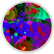 Colorful World Of A Fish Round Beach Towel