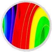 Colorful1 Round Beach Towel