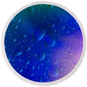 Colorfull Water Drop Background Abstract Round Beach Towel