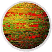 Colorisentences Round Beach Towel