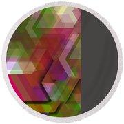 Dark Colorist Geometric Composition Round Beach Towel