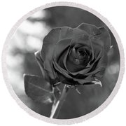 Colorless Rose Round Beach Towel