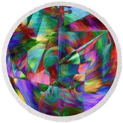 Colors And Geometries For A Violin  Round Beach Towel