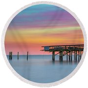 Colors In Motion Round Beach Towel