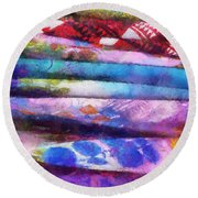 Colors Material Horizontal Pa 02 Round Beach Towel