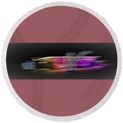 Colors, Not Lights 1 Round Beach Towel