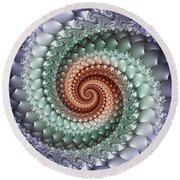 Colors Of A Spiral Round Beach Towel