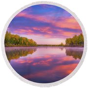 Colors Of Chatfield Round Beach Towel