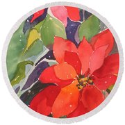 Colors Of Christmas Round Beach Towel