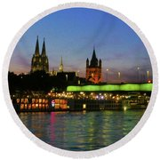 Colors Of Cologne Round Beach Towel