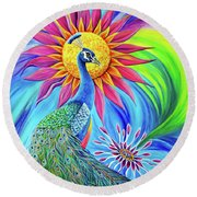 Colors Of His Splendor Round Beach Towel by Nancy Cupp
