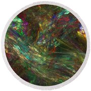 Colors Of Light Round Beach Towel