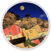 Colors Of Liguria Houses - Facciate Case Colori Di Liguria 3 Round Beach Towel