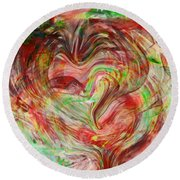 Colors Of Love Round Beach Towel