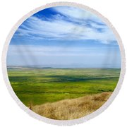Colors Of My Soul  Round Beach Towel