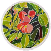 Colors Of Nature Round Beach Towel