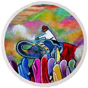 Colors Of Rajasthan Round Beach Towel