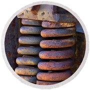 Colors Of Rust Round Beach Towel