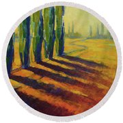 Colors Of Summer 4 Round Beach Towel