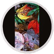 Colors Of The Fall Round Beach Towel