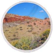 Colors Of The Utah Desert Round Beach Towel
