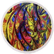 Colors Of The Wind 1 Round Beach Towel