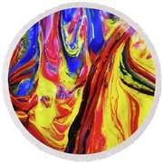 Colors Of The Wind 2 Round Beach Towel