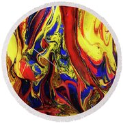 Colors Of The Wind 3 Round Beach Towel