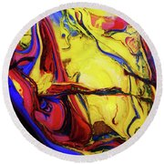 Colors Of The Wind 4 Round Beach Towel