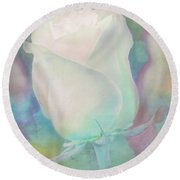 Colors Of This Rose Round Beach Towel