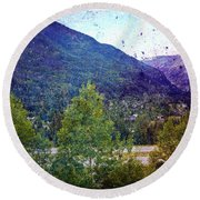 Colors Of Vail Round Beach Towel