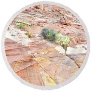 Colors Of Wash 3 In Valley Of Fire Round Beach Towel