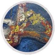 Colors On Rock II Round Beach Towel
