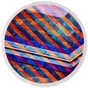 Colors Play Round Beach Towel