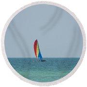 Colorsail Round Beach Towel