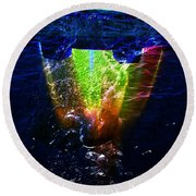 Colorscope Collage In Water Round Beach Towel