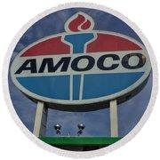 Colossal Amoco Round Beach Towel