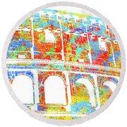 Colosseum - Colorsplash Round Beach Towel