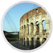Colosseum Early Morning Round Beach Towel