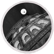 Colosseum Panorama Round Beach Towel by Stefano Senise