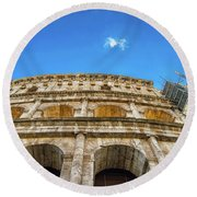 Colosseum Perspective Round Beach Towel