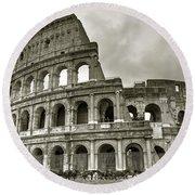 Colosseum  Rome Round Beach Towel by Joana Kruse