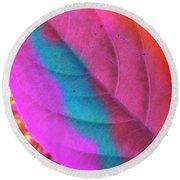 Colour Leaf Round Beach Towel