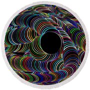 Colour My World Round Beach Towel