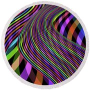 Colour River Round Beach Towel