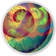 Colour Spiral Round Beach Towel