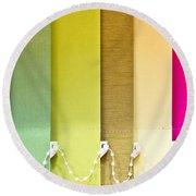 Colourful Blind Round Beach Towel
