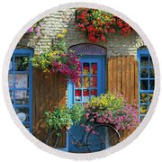 Colourful Boutique,france. Round Beach Towel