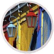 Colourful Lamps La Boca Buenos Aires Round Beach Towel
